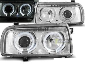 【送料無料】模型車 モデルカー スポーツカー ヌオーヴォnuovo fanali anteriori per vw vento 1992 1998 angel eyes cromo sv lpvw87ei xi