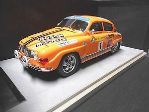 【送料無料】模型車 モデルカー スポーツカー ラリースウェーデン#ボッシュテクノモデルsaab 96 v4 rallye schweden 1975 1 blomqvist 2nd bosch castrol tecnomodel 118