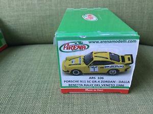 【送料無料】模型車 モデルカー スポーツカー ポルシェラリーデルヴェネトアリーナporsche 911 sc gr4 zordan dalla benetta rally del veneto 1986 arena 143