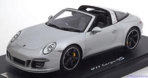 【送料無料】模型車 モデルカー スポーツカー ポルシェタルガシルバーワックスporsche 911 991 targa 4s 2015 silver gt spirit wax02100011 118 resine resin