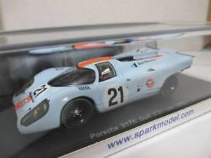 【送料無料】模型車 モデルカー スポーツカー スパークポルシェ#ルマンspark 143 porsche 917k 21 le mans 1970 gulf s1970
