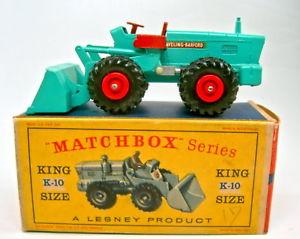 【送料無料】模型車 モデルカー スポーツカー マッチキングサイズトターショベルボックスターコイズグリーンmatchbox kingsize k10a ab tractor shovel rares hell trkisgrn in d box