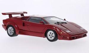 【送料無料】模型車 モデルカー スポーツカー ランボルギーニlamborghini countach, rot, 118, autoart