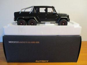 【送料無料】模型車 モデルカー スポーツカー ベンツ gor 118 autoart mercedes benz g63 amg 6 x 6 matt schwarz neu ovp