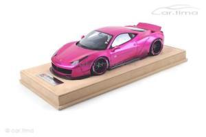 【送料無料】模型車 モデルカー スポーツカー リバティーウォークフラッシュピンクショーケースリバティーliberty walk 458 flash pink 1 of 50 inkl vitrine liberty walk 118