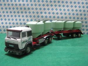 【送料無料】模型車 モデルカー スポーツカー トラックターボテックサイロcamion iveco turbotech rimorchio silos per cemento 143 old carsgila modelli