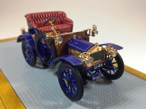 【送料無料】模型車 モデルカー スポーツカー ロールスロイスイルilario rolls royce 10hp current car 1904 blue 143 il100