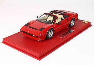 【送料無料】模型車 モデルカー スポーツカー フェラーリターボロッソショーケースferrari 208 gts turbo 1983 rosso mit vitrine 118 p18142av bbr