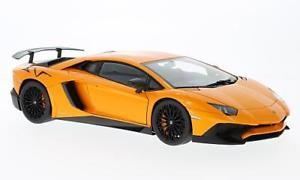 【送料無料】模型車 モデルカー スポーツカー ランボルギーニメタリックオレンジlamborghini aventador lp7504 sv, metallicorange, 118, autoart