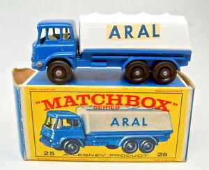 【送料無料】模型車 モデルカー スポーツカー マッチベッドフォードタンカーボックスmatchbox rw 25c bedford tanker blauwei aral perfekt in aral e2box