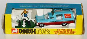 【送料無料】模型車 モデルカー スポーツカー コーギープードルcorgi toys 511 chipperfields performing poodles komplett in ovp