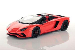 【送料無料】模型車 モデルカー スポーツカー ランボルギーニロードスターアルゴスコレクションlamborghini aventador s roadster arancio argos 118 lambo031f mr collection