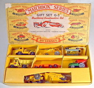 【送料無料】模型車 モデルカー スポーツカー マッチコンストタビルmatchbox g3 building constructors giftset 1961