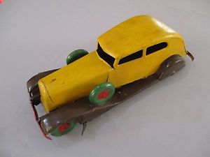 【送料無料】模型車 モデルカー スポーツカー チャールズプジョーボンaf473 charles rossignol cr peugeot berline tole 1930 36 cm bon etat repeinte
