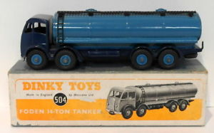【送料無料】模型車 モデルカー スポーツカー ビンテージトンタンカーvintage dinky 504 foden 14 ton tanker blue