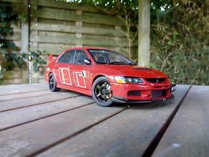 【送料無料】模型車 モデルカー スポーツカー ランサーエボラリーアート118 mitsubishi lancer evo 9 ix ralliart autoart