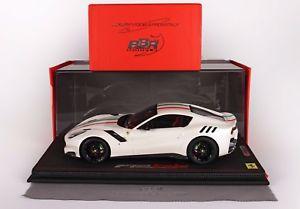 【送料無料】模型車 モデルカー スポーツカー フェラーリビアンコイタリアferrari f12 tdf bianco italia limited edition 20 pc 118 bbr p18121iw