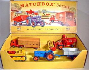 【送料無料】模型車 モデルカー スポーツカー マッチmatchbox giftset g3 farming set 1963