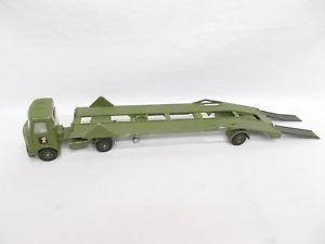 【送料無料】模型車 モデルカー スポーツカー ビンテージトランスポータートレーラートラックvintage dinky toys 616 aec articulated lorry with transporter trailer