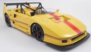 【送料無料】模型車 モデルカー スポーツカー モデルフェラーリバルケッタボディmg model fr1817 ferrari f40 beurlys first barchetta body 1993 jaune 118