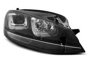 【送料無料】模型車 モデルカー スポーツカー デイライトゴルフラインヘッドライトneu scheinwerfer led mit tagfahrlicht fr vw golf 7 vii schwarz mit linie sv lp