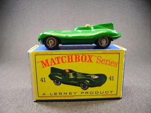 【送料無料】模型車 モデルカー スポーツカー モコジャガータイプワイヤホイールボックスmatcbox lesney moko jaguar dtype 41b wire wheels england 1962  box