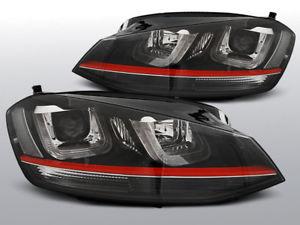 【送料無料】模型車 モデルカー スポーツカー фарывнутриゴルフчерныйкраснымсラインфары led drl внутри vw golf 7 vii черный с красным line gti look ch lpvwm2e1 xin