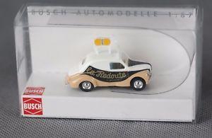 【送料無料】模型車 モデルカー スポーツカー ルノーラノスタルジックbusch 46517 h0, 187 renault 4cv la redoute nostalgisches werbefahrzeug neu