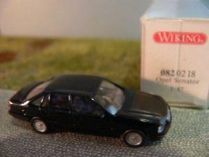 【送料無料】模型車 モデルカー スポーツカー オペルセネター187 wiking opel senator b schwarz ab 1987 082 02 b
