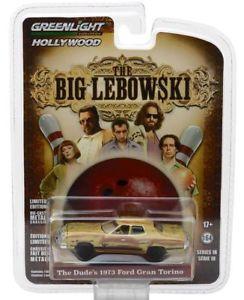 【送料無料】模型車 モデルカー スポーツカー フォードトリノ73 ford torino big lebowski dude 1973 *** greenlight 164 ovp