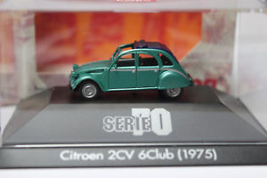 【送料無料】模型車 モデルカー スポーツカー シトロエンクラブシリーズグリーンメタリックcitroen 2cv 6club 1975 187 von herpa serie 70 grnmetallic