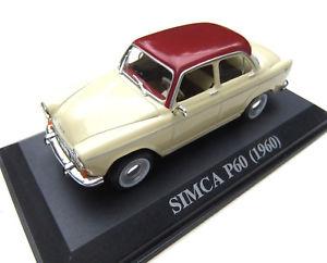 【送料無料】模型車 モデルカー スポーツカー #ショーケースneues angebotsimca p60 1960 143 guter zustand in vitrine  2016