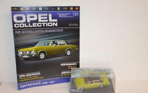 【送料無料】模型車 モデルカー スポーツカー オペルオペルアドミラルコレクションクリアボックスopel collection nr 31 opel admiral b 1969 1977 in klarsichtbox heft