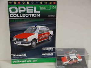 【送料無料】模型車 モデルカー スポーツカー in オペルオペルアスコナコレクションクリアボックスopel collection ascona 104 スポーツカー opel ascona c feuerwehr 1982 1988 in klarsichtbox heft, まーぶるPC:dde31f78 --- reisotel.com