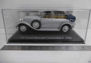 【送料無料】模型車 モデルカー スポーツカー ベンツコレクションgメルセデスボックスブックレットbenz sammlung nr 7 mb 143 770 grand mercedes convertible f 1932 in box o heft