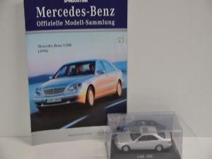 【送料無料】模型車 モデルカー スポーツカー コレクションメルセデスベンツnr 53 deagostini 143 mercedes benz sammlung s 500 1998 in box defekt