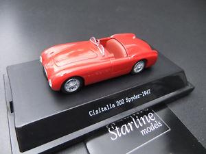 【送料無料】模型車 モデルカー スポーツカー スパイダースターラインモデル#cisitalia 202 spyder 1947 rot 179 143 starline models 367