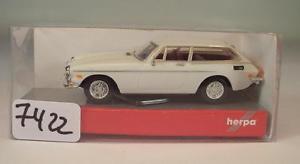 【送料無料】模型車 モデルカー スポーツカー ボルボクーペホワイト#herpa 187 nr 023504 volvo p1800 es coupe wei ovp 7422