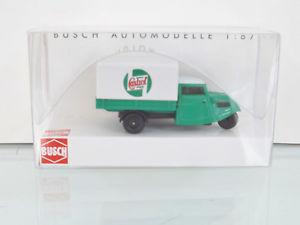 【送料無料】模型車 モデルカー スポーツカー ペースオリジナルボックスbusch 40606 h0 187 tempo dreirad castrol, 1935 neu in ovp