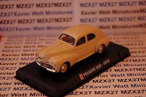 【送料無料】模型車 モデルカー スポーツカー プジョープラスヌフテネスブリスターvoiture peugeot 203 1950 auto plus 143eme neuf sous blister