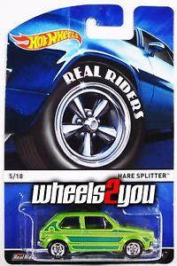【送料無料】模型車 モデルカー スポーツカー ウサギスプリッタホットホイールケースリアルライダーウサギhare splitter 2015 hot wheels heritage a case real riders vw rabbit