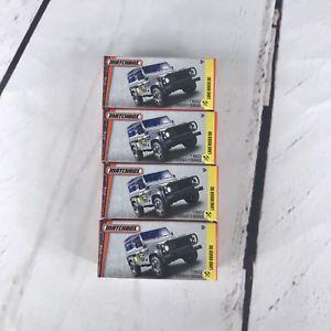 【送料無料】模型車 モデルカー スポーツカー マッチランドローバーロットmatchbox land rover 90 lot of 4 sealed in boxes