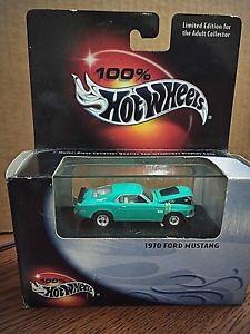【送料無料】模型車 モデルカー スポーツカー ホットホイールティールフォードマスタング100 hot wheels limited edition teal 1970 ford mustang collectible