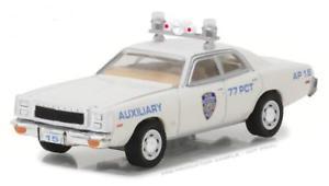 【送料無料】模型車 モデルカー スポーツカー ライトホットプリマスフューリースケールgreenlight 42820c hot pursuit 1977 plymouth fury nypd auxiliary 164 scale