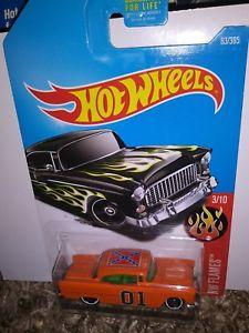 【送料無料】模型車 モデルカー スポーツカー シボレーカスタムホットホイールgeneral lee dukes of hazzard 55 chevy custom hot wheels
