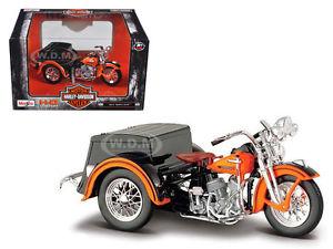 【送料無料】模型車 モデルカー スポーツカー ハーレーダビッドソンカーサイドカーオートバイ1947 harley davidson servicar w side car 118 motorcycle by maisto 3242003179