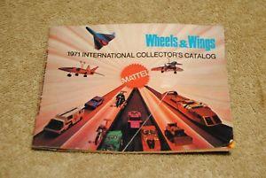 【送料無料】模型車 モデルカー スポーツカー ヴィンテージホットホイールホイールコレクタカタログvintage 1971 hot wheels international collector's catalog wheels amp; wings mattel