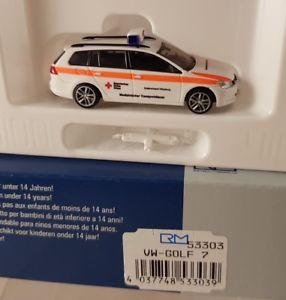 【送料無料】模型車 モデルカー スポーツカー ゴルフバイエルンrietze vw golf 7 brk wrzburg rotes kreuz bayern 187 h0 53303