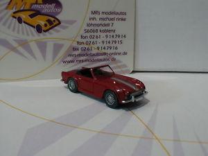 【送料無料】模型車 モデルカー スポーツカー バイキング#wiking 0815 05 triumph tr4 cabrio baujahr 1962 in purpurrot 187 neu