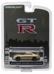 【送料無料】模型車 モデルカー スポーツカー 2016 nissan gtr r35 gold edition *** greenlight anniversary 164 ovp